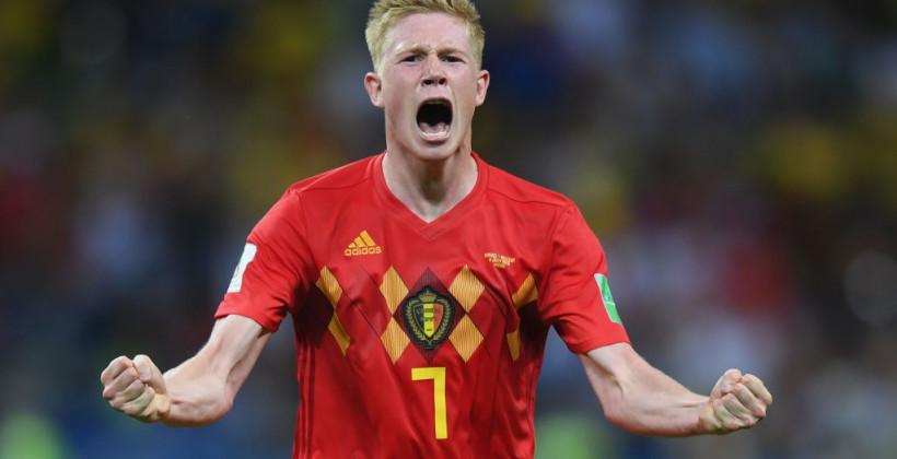 Де Брюйне гол Бельгия Бразилия ЧМ2018