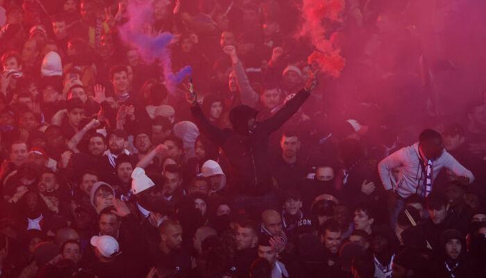 36 человек арестованы в Париже после победы ПСЖ над Лейпцигом