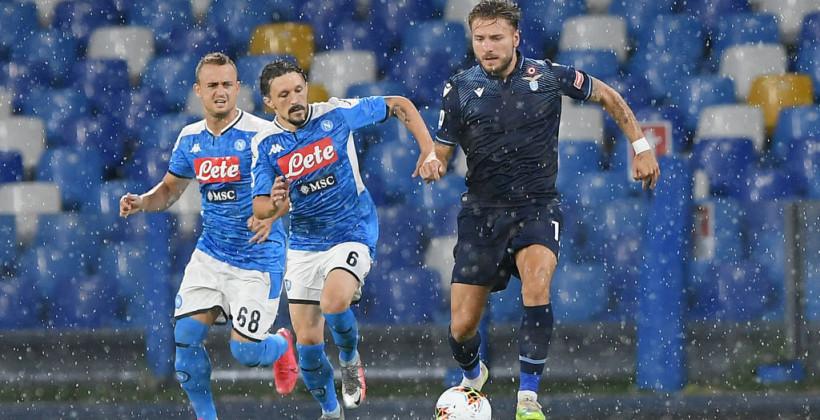 Лацио уступил Наполи и занял четвертое место в Серии А