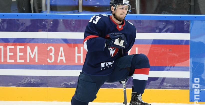 Белорусский форвард Торпедо Андрей Белевич отметился третьей шайбой в сезоне