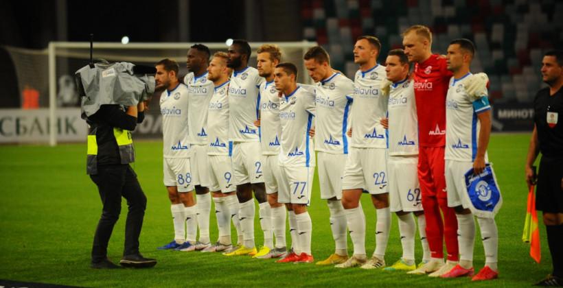 Артём Милевский в старте брестского Динамо на матч Лиги Чемпионов