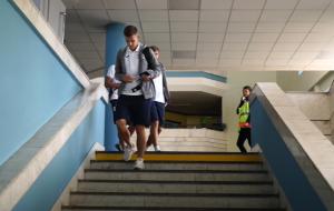 Брестское Динамо прибыло в Тель-Авив (видео)