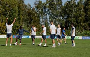 Тренировка брестского Динамо перед матчем с борисовским БАТЭ