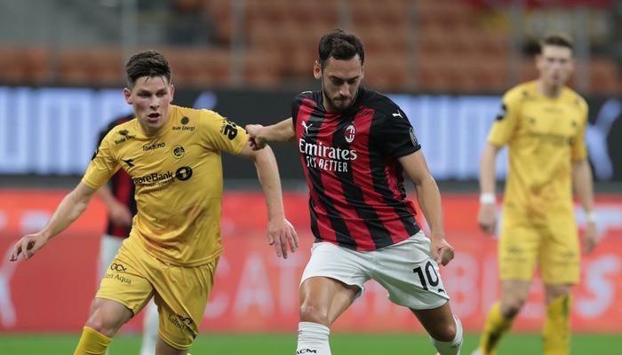 Милан не без проблем одолел Буде-Глимт и вышел в следующую стадию ЛЕ
