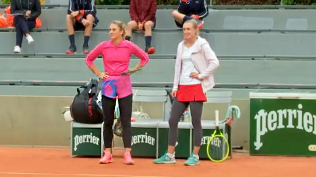 Александра Саснович и Марта Костюк вышли в четвертьфинал парного разряда Ролан Гаррос