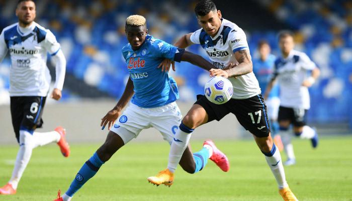 Наполи забил 4 мяча Аталанте и добыл победу после технического поражения