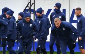 Тренировка брестского Динамо накануне матча со Славией (видео)