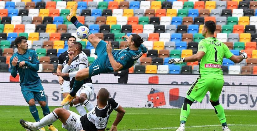 Ибрагимович отличился в шестом кряду матче Серии А, повторив рекорд Шевченко