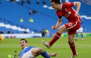 Ливерпуль упустил победу над Брайтоном, пропустив в концовке матча с пенальти