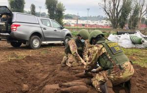 На тренировочной базе Ромы обнаружили 20 снарядов времён Второй мировой войны