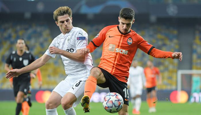 Шахтёр пропустил шесть мячей в матче против Боруссии Мёнхенгладбах