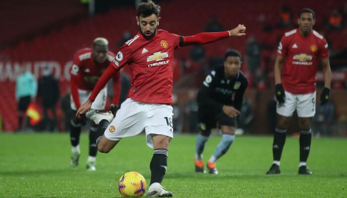 Манчестер Юнайтед не без труда обыграл Астон Виллу