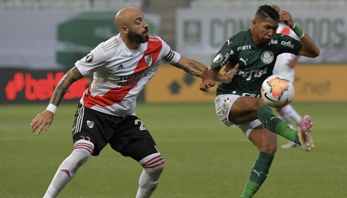 Ривер Плейт забил дважды, но не смог опередить Палмейрас в полуфинале Кубка Либертадорес