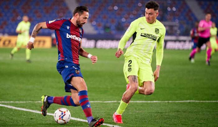 Атлетико на выезде неожиданно сыграл вничью с Леванте