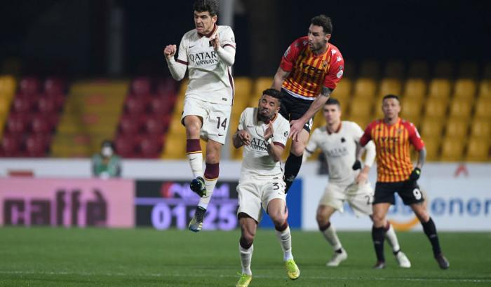 Рома в большинстве не сумела дожать Беневенто