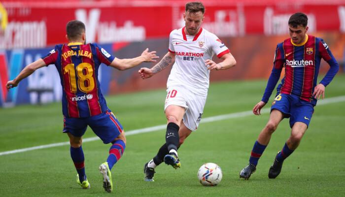 Барселона взяла верх над Севильей и переместилась на второе место в Примере