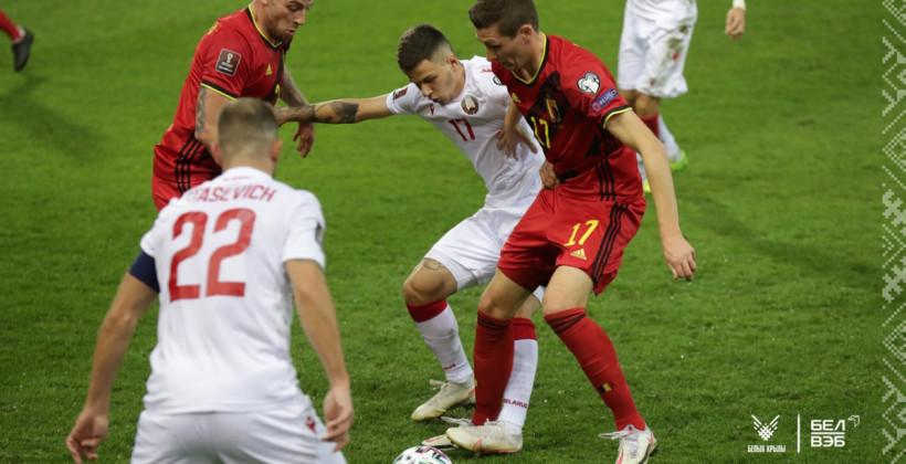Сборная Беларуси на выезде разгромно уступает Бельгии после первого тайма