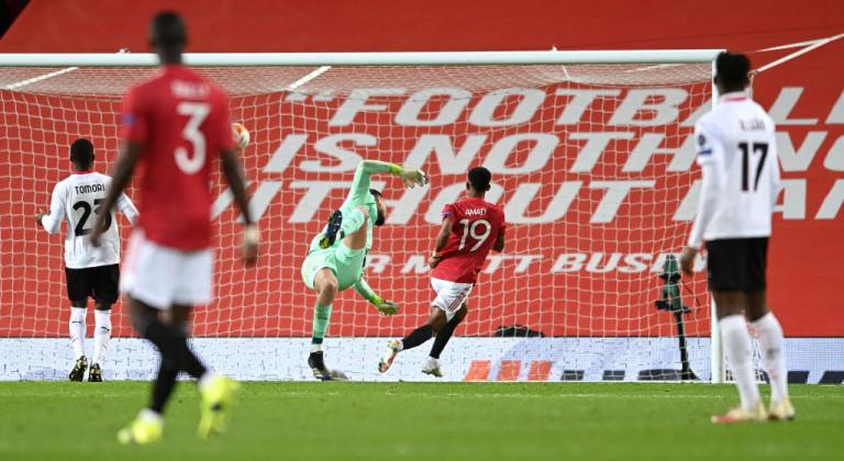 Милан в концовке вырвал ничью у МЮ в первом матче 1/8 финала Лиги Европы