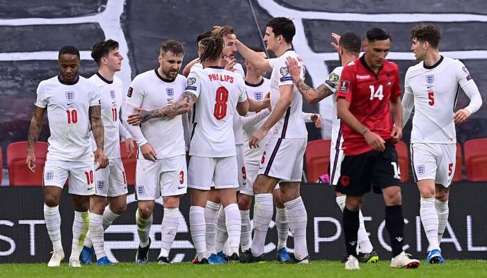 Англия без особых усилий набрала 3 очка в матче с Албанией