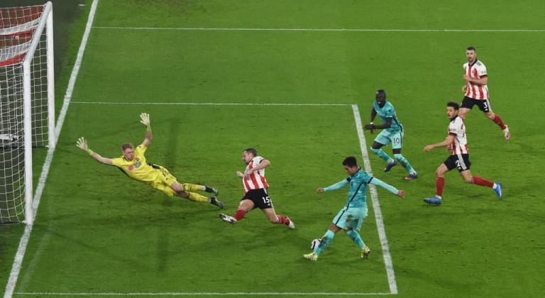 Ливерпуль одолел Шеффилд Юнайтед и прервал серию из четырех подряд поражений в АПЛ