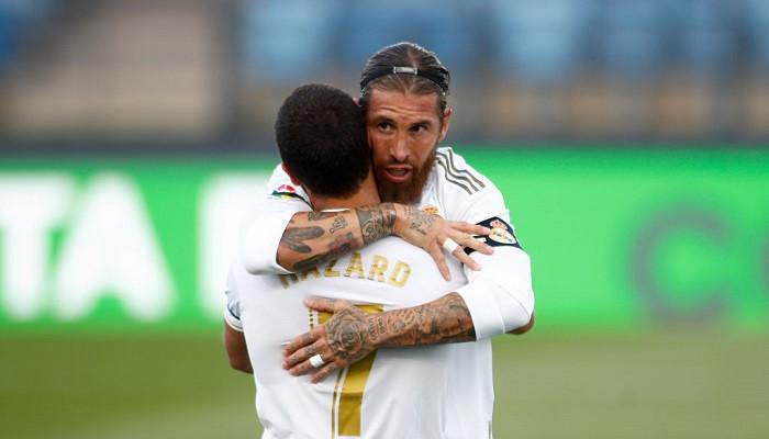 Рамос и Азар приступили к тренировкам в общей группе Реала