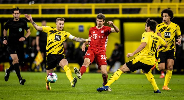 Бавария в концовке вырвала победу у Боруссии Д и вернулась на первое место в Бундеслиге