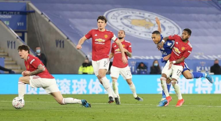 Лестер одолел Манчестер Юнайтед и пробился в полуфинал Кубка Англии