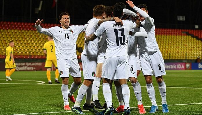 Италия не без труда добыла победу в гостевом матче против сборной Литвы