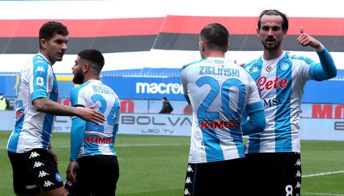 Наполи в гостях обыграл Сампдорию и забрался в зону Лиги чемпионов