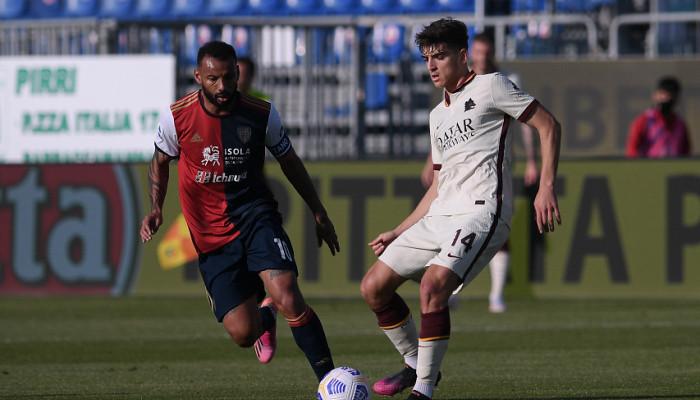 Кальяри добыл победу над Ромой в матче с пятью голами