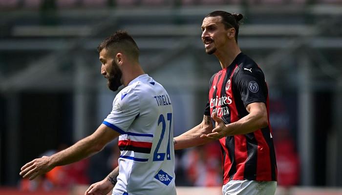 Хауге за три минуты до конца вырвал ничью для Милана в матче с Сампдорией