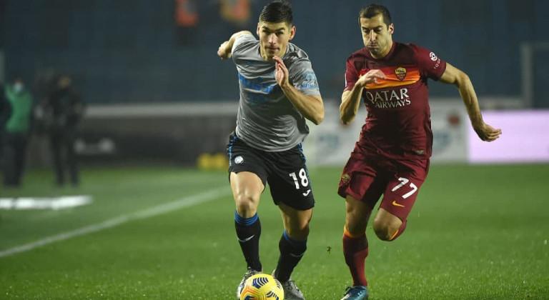Рома в концовке вырвала ничью в матче с Аталантой