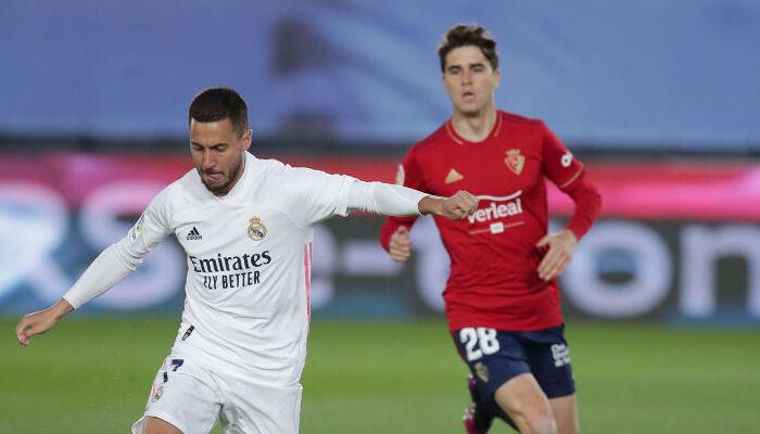 Реал в концовке дожал Осасуну и закрепился на второй позиции в Примере
