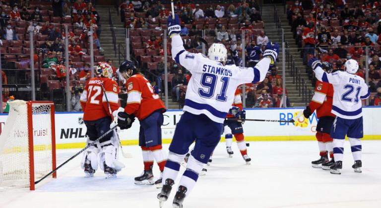 Единственная шайба Миннесоты в овертайме, виктория Тампы в матче с девятью шайбами и ещё два матча НХЛ