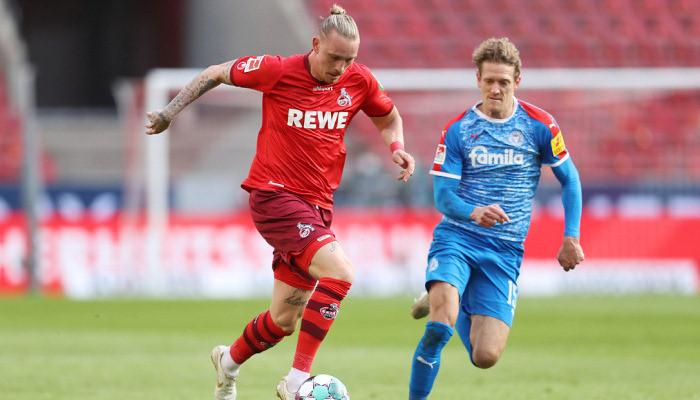 Кельн дома уступил Хольштайну в первом матче плей-офф за место в Бундеслиге