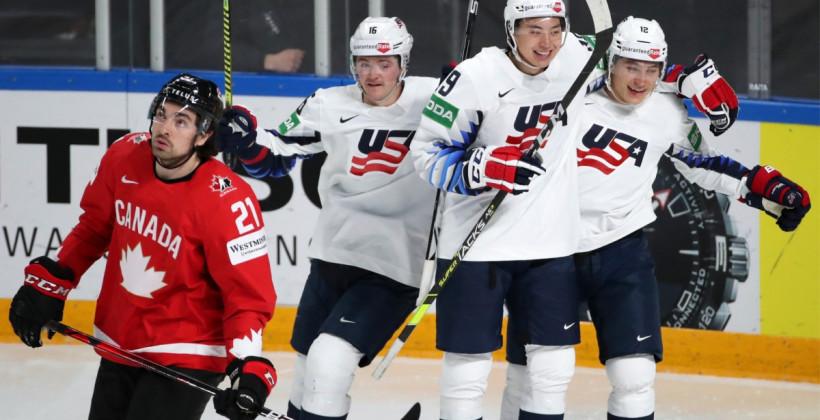 Сборная США не оставила шансов Канаде на чемпионате мира в Риге