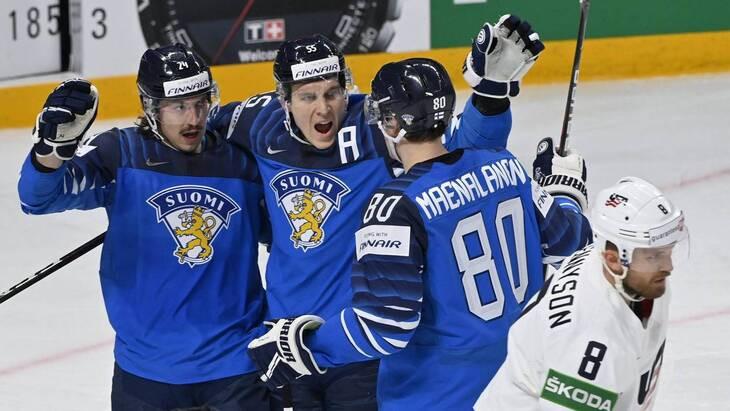Финляндия уверенно разобралась с Италией и возглавила группу В чемпионата мира в Риге