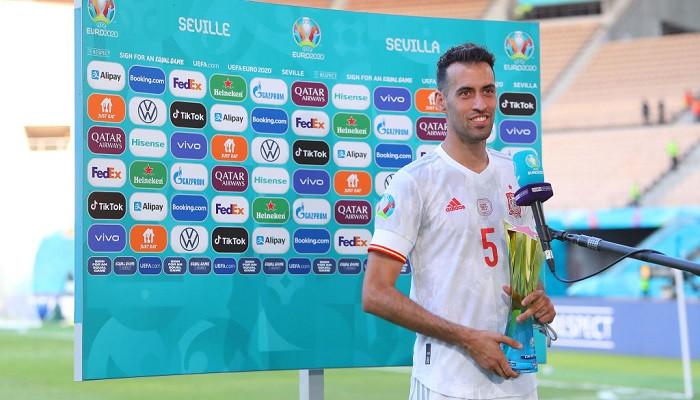 Серхио Бускетс признан лучшим игроком матча Испания — Хорватия