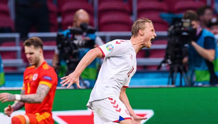 Сборная Дании забила четыре безответных гола Уэльсу и прошла в 1/4 Евро-2020