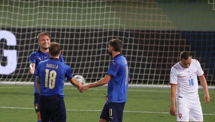 Италия крупно обыграла Чехию в товарищеском матче