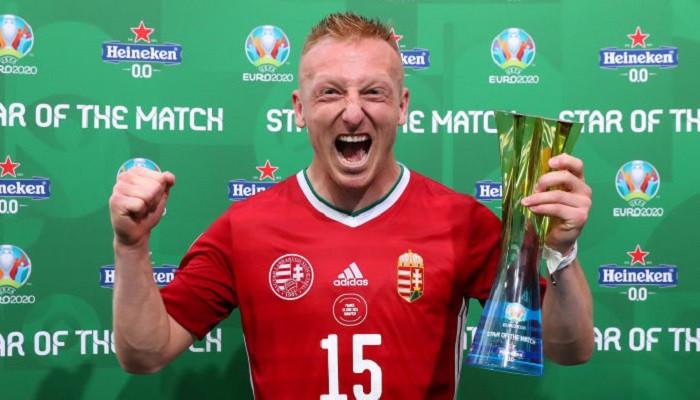 Хавбек Венгрии Кляйнхайслер стал игроком матча со сборной Франции