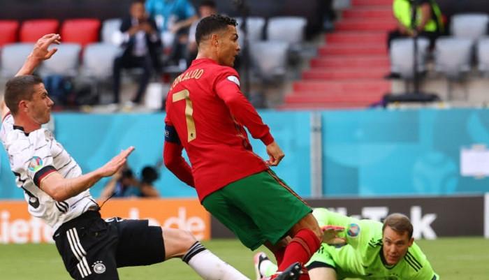 Роналду сравнялся с Клозе по количеству голов на чемпионатах Европы и мира
