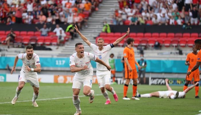 Сборная Чехии сенсационно обыграла Нидерланды и вышла в четвертьфинал Евро-2020