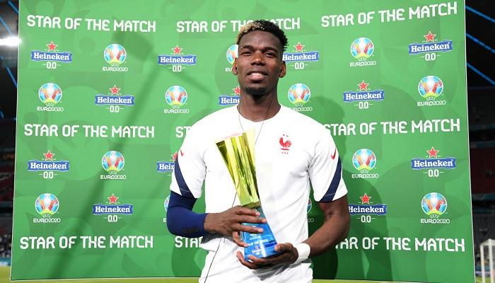 Поль Погба признан лучшим игроком матча Франция — Германия
