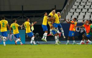 Бразилия в волевом стиле обыграла Колумбию, забив гол на 100-й минуте, Эквадор и Перу разошлись миром