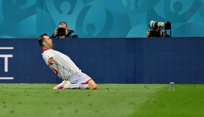 Пандев — автор первого гола Северной Македонии на чемпионатах Европы