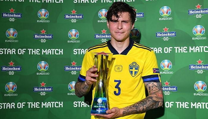 Линделеф — лучший игрок матча Испания — Швеция
