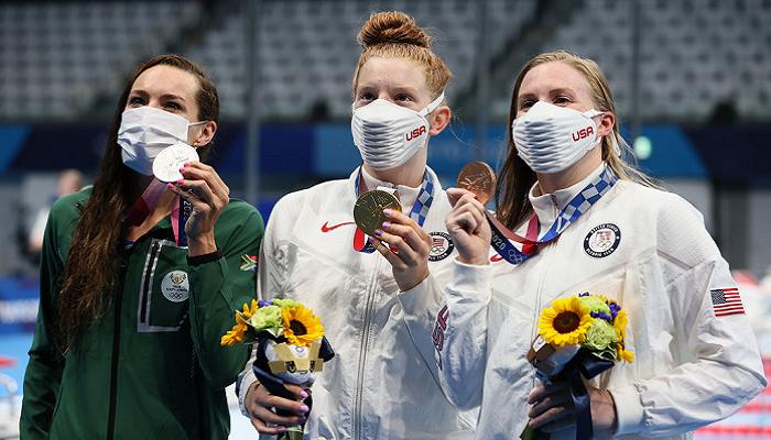 Американка Якоби, россиянин Рылов, австралийка Маккиоун и британец Дин стали победителями Олимпиады в плавании
