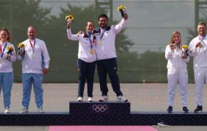 Испанский дуэт стал первым в олимпийских соревнованиях по стендовой стрельбе в трапе