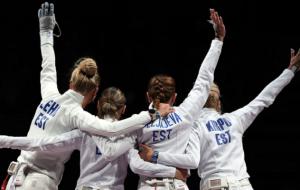 Эстонки стали олимпийскими чемпионками в командном фехтовании на шпагах
